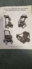 Briggs & Stratton Pressure Washer Operating/Maintenance Manual #193207GS