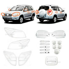 Accessories Chrome Upgrade Smart Molding Covers Trims For 2006-2008 Toyota RAV4
