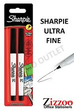 SHARPIE ULTRA-FINE BLACK MARKER PEN 2 PACK GREAT PRODUCT AND PRICE!