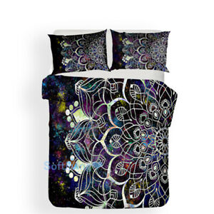 Universe Bohemia Floral Single/Double/Queen/King Bed Quilt/Doona/Duvet Cover Set
