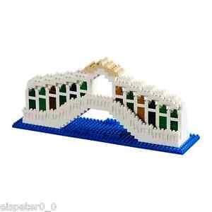 Brixies 200.134 - Ponte Di Rialto, 3D Puzzle, Mini Blocs 474 Pièces