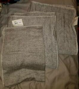 Coyuchi Organic Bath Towel Set - Charcoal - 2 Bath Towels, 1 Hand Towel