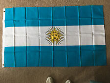 Argentina flag 3 X 5 ft. polyester 2 Grommet holes one side