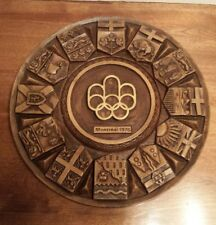 Vintage Montreal 1976 Olympic Game circular wall ornement .