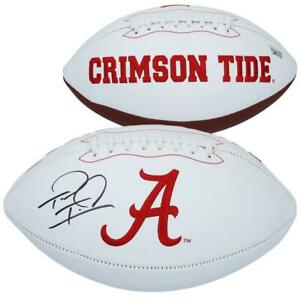 TUA TAGOVAILOA Autographed Alabama White Panel Football FANATICS