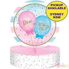 Gender Reveal Balloons Party Boy Girl 1 Ct Honeycomb Centrepiece