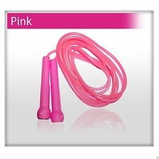 Plastic Skipping Rope PVC Speed Jump Rope Fitness Exercise Workout Jumping Pink
