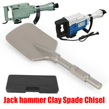Clay Spade Scoop Clay Spade Cutter Chisel for Hex Shank Demolition Jack Hammers