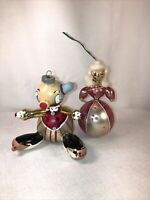 De Carlini  Glass Christmas Ornaments? Lot Of 2 Glass Blown Hand Made