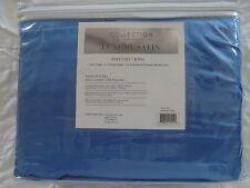 Judith Roberts Luxury Soft Silk~y Satin 4 Pcs KING Size Sheet Set Blue Sapphire
