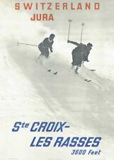 Vintage Ski Posters ST. CROIX LES RASSES, Swiss, A3 250gsm Travel Print