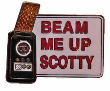 "Star Trek Original Series ""Beam Me Up Scotty"" 1 1/4"" Wide Enamel Pin"