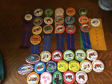 Farm Tractor Show Ribbon Pin Button Antique Lot of 36 Steam Gas Power Club