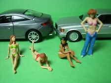 4  FIGURINES  1/43   SET 200  PARIS  PLAGE  VROOM  A  PEINDRE   UNPAINTED