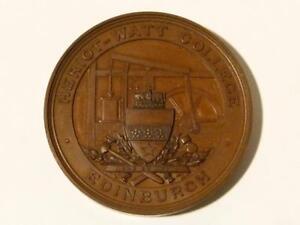 1896 Heriot-Watt College Edinburgh Land Surveying Medal GW Tulley Cased #T8*