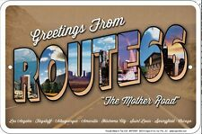 Greetings From Route 66 metal sign    (ga)