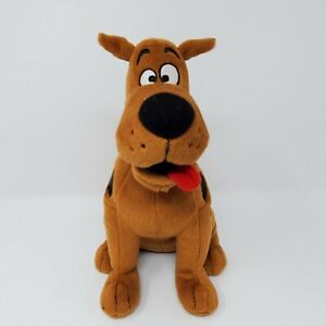 "Ty Beanie Babies Scooby Doo 15"" Dog Plush Stuffed Animal Brown Blue Collar Scoob"
