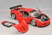 1/18 HOT WHEELS ELITE FERRARI 458 ITALIA GT2 RED Auto Exotic Race Car no GT3 GT4