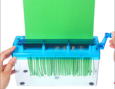 Mini A4  Paper Shredder Manual Paper Cutter Shredder Tabletop Shredder Blue