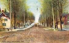 Napanee Ontario Canada Piety Hill Street Scene Antique Postcard J76611