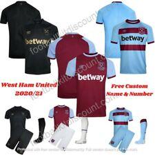 West Ham United FOOTBALL KID KIT and ADULT SHIRT 2020/21 FREE custom Name/Num