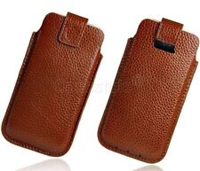 For iPhone 5S 5C 5 Genuine Leather Smart Pouch Sleeve Slip Case Business Travel