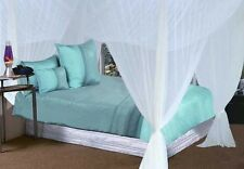 New Elegant WHITE Bed Canopy Mosquito Net One Size Fits All Easy To Install