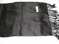 New Thai  BLACK Pashmina/shawl/wrap/scarf 100% Silk & Cashmere