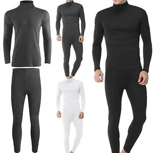 MENS THERMAL WINTER WARM FULL SET LONG JOHN BOTTOM AND LONG SLEEVE TOP UNDERWEAR