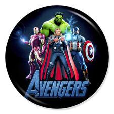 "Avengers 25mm 1"" Pin Badge Marvel Assemble Iron Man Thor Hulk America"