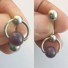 Amethyst Stone Reversible VCH Door Knocker with Heavy Ball for Extra Pressure.