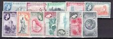 BARBADOS Sc 235-47 LH SET OF 13 VALUES - 1953 ISSUE