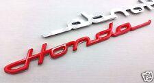 1X HONDA 3D SIGN EMBLEM LOGO BADGE STICKER  NSX CRX CRZ CRV PRELUDE RED
