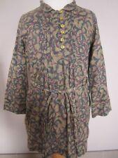 IKKS filles porté une fois robe tunique Âge 3, 4, 5 ans vert detactable Ceinture