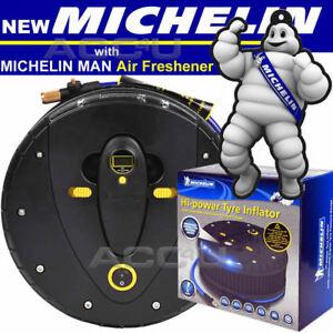 Michelin 12260 12v Car Tyre Air Compressor Inflator Detachable Pressure Gauge.+F