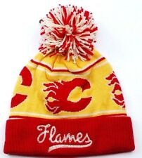 Calgary Flames CCM NHL Retro Team Logo  Pom Pom Knit Hockey Hat/Beanie/Toque