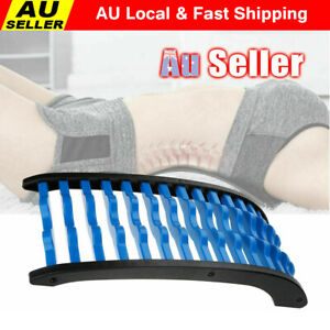 Back Massage  Stretcher Fitness Relax Lumbar Support Chiropractic Massager AUS