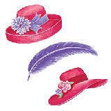 Wallies Wallpaper Cutouts Sassy Red Hats Rhs