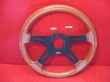 volante sportivo  -Razza satinata  nero  ..in vero  legno  di mogano ctm 35