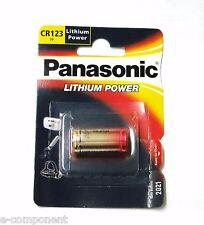 BATTERIA 3V PANASONIC LITIO CR123A NEXTORCH XEON SOFTAIR LASER SCADENZA 2021