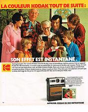 PUBLICITE ADVERTISING 064  1978  KODAK COLOR  appareil photo  EK 100