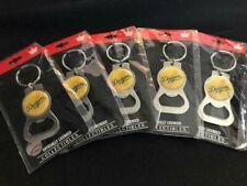 5 Count Lot - NEW Los Angeles Dodgers Bottle Opener Key Ring White Logo (Toned)