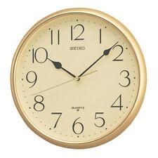 Seiko Quartz Gold Round Wall Clock with Arabic Numerals Plastic 28cm