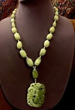 Jade Year Of Dragon And Rising Phoenix Necklace Awesome SALE