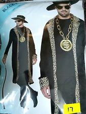 BNWT Best Dressed Adults Black Pimp fancy dress costume one size