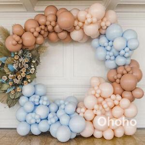 Blue Coffee Blush Balloons Garland Arch Kit Set Rustic Retro Wedding Birthday
