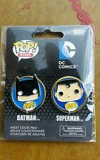 BATMAN & SUPERMAN FUNKO POP HEAVY METAL PINS ! DC Comics EXCELLENT QUALITY NEW