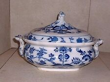 Antique BWM & Co. Meissen Cauldon Blue Onion Covered Tureen EX.