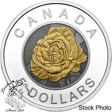Canada 2014 $5 Flowers in Canada Rose Silver Coin - Originally $139.95