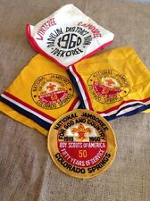 Vintage 1950 - 1960 Boyscout Lot Jamboree Winteree Ephemera Handkerchiefs